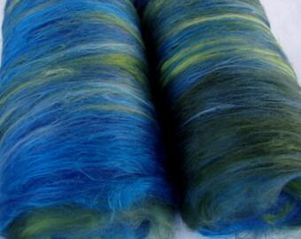 Softest merino silk spinning batts, felting batts, nuno felting fiber, wet felting wool, needle felting, spinning fiber, batting, 100g/3.5oz