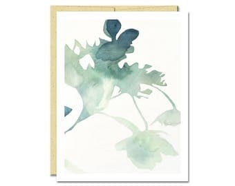 Hydrangea Shadow Notecard // Everyday Card // Modern Card // Blank Notecard // Plant Card // NW Artist // Rachel Austin Card