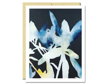 Rhododendron Shadow Notecard // Everyday Card // Modern Card // Blank Notecard // Plant Card // NW Artist // Rachel Austin Card