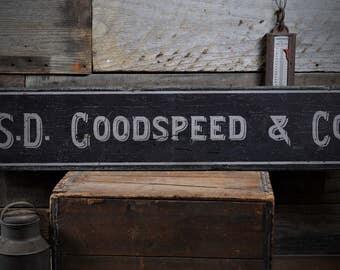 Vintage Business Sign, Vintage Company Sign, Company Name Sign, Business Name Sign, Business Sign - Rustic Hand Made Wooden Sign ENS1000893