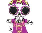 Purple La Muerta Plushie