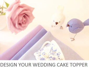 Design your own wedding cake topper - you choose the colours