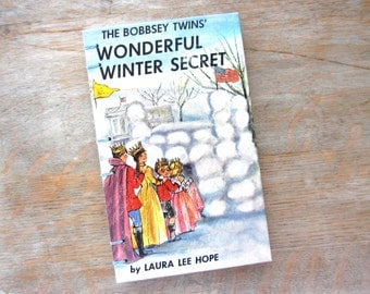 1962 Bobbsey Twins Journal, Wonderful Winter Secret, unlined pages, Ready to Ship