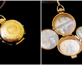 Vintage Coro 4 Picture Locket Necklace - Love in Four Chambers