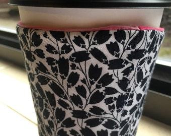 Coffee Cozy Reusable Sleeve - Tulip Fields