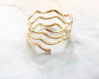 M O A N A - Gold Filled Ring - Size 7-7.5