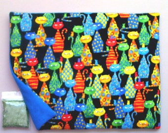 Catnip Mat and Catnip Funky Colorful Cats Refillable Reversible