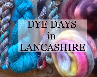Indie Dye Day - Dyeing Workshop - Indie dyer - dye workshop - dyed yarn - Lancashire - North West