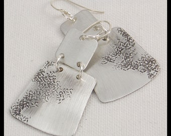 MYSTICAL - Handforged Hammered & Oxidized Pewter Statement Earrings