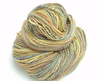 Handspun Yarn, Hand Dyed Wool Yarn, Hand Spun Yarn, Worsted, 256 Yards