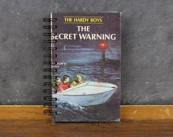Recycled Book Journal -The Hardy Boys- blank journal made from a recycled vintage book