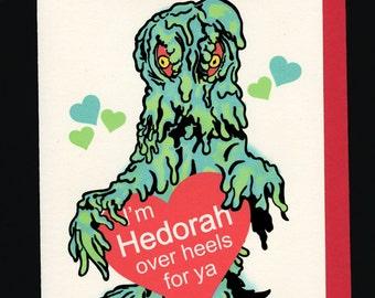 Hedorah 80's style valentine card