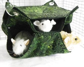 Rat Hammock, honeycomb Hammock,BitsOHeaven Hammock, 3 level hammock Rat Bed, Rodents Hammock,Small pet hammock, rat hammock B