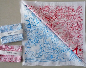 Bristol City Map Hankie