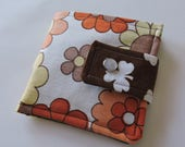 Funky Vintage Fabric Scrappy Wallet * Holds 8 cards and paper money * twilightdance