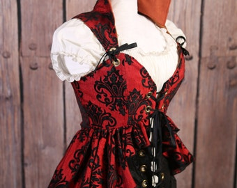 Bust 38-40 Red and Black Grace Overbust Valkyrie Corset