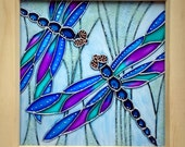 Dragonfly Glass Art Painting