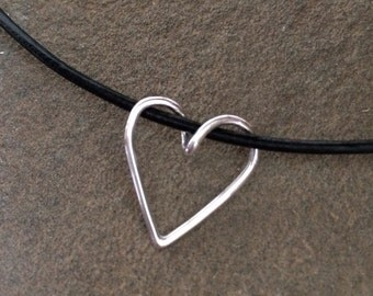 Silver Heart Slider Necklace