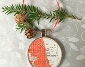 Reserved for Marianne  3 Chicago Map Ornaments
