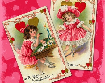 Vintage Valentine Downloadable Collage Sheet 3