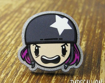 Roller Derby Girl Lapel Pin