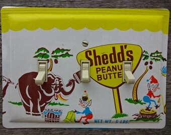 Mid Century Lighting Fixtures Switch Plate Covers Made From Retro 1950s Decor Shedds Peanut Butter Tin Pail Antique House TP-4064