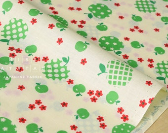 Japanese Fabric Atsuko Matsuyama Fancy Apple - green - fat quarter