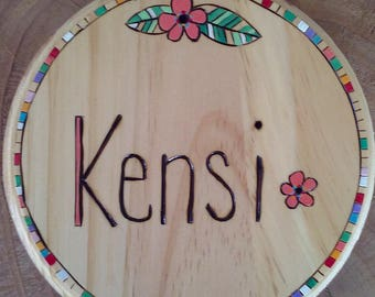 Baby name plaques etsy wooden name sign baby name plaque nursery art large painted personalized baby wall hanging nursery decor negle Images