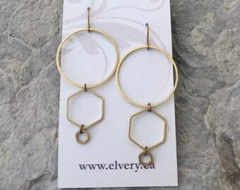Hexagon Love Earrings