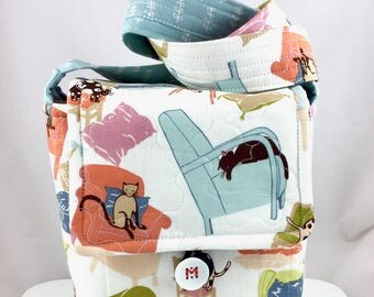 Kitties And Chairs Cat Lady Wee Bag By For Mew Cat Lover Purse, Gift For Cat Lover