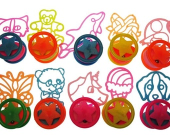 12 x Stencil-like Retro Rolling Toys PARTY FAVORS