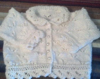 Baby Lacy Round Neck Cardigan by Never Felt Better