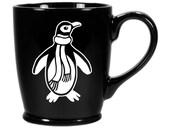 Penguin Black Coffee Mug
