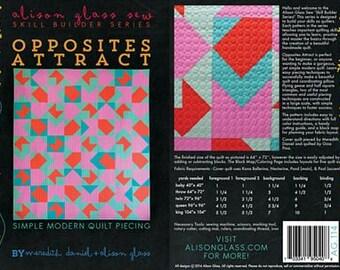 Allison Glass PATTERN - Opposites Attract Quilt
