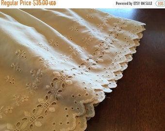 Vintage Chenille Bedspread Hoffman Daisy White By