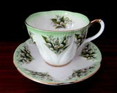 Royal Albert Bone China Dainty Dina Series Teacup And Saucer Set In the Anne Pattern.