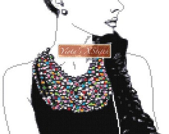 Audrey Hepburn counted cross stitch kit