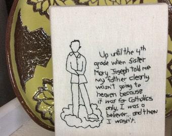 Embroidery Art,  Wall Decor, Textile Art