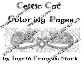 Celtic Cat Coloring Pages