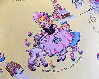 Vintage Gift Wrap Scrapbooking Decopouge Altered Art Collage Nursery Rhymes
