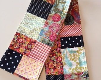 Patchwork Scarf - Multi-colored 100% Cotton