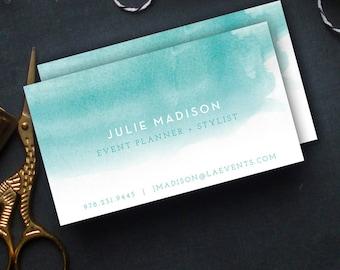 Watercolor Business Cards, Custom Business Cards, Personalized Business Cards, Business Card Design, Watercolour Card, Unique Business Cards