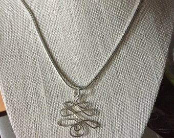 SALE! Was 30.00 now 25.00 Sterling Silver Celtic Tree Necklace