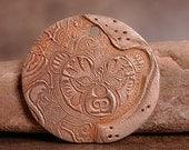 Animal Totem Pendant Bear Bronze Metal Clay Rustic Divine Spark Designs SRA