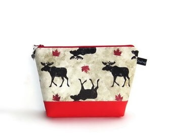 Wedge Bag, Mini Knitting Project Bag, Mighty Moose, Canada, O Canada, Canada 150