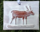 Snowstorm Reindeer Tile