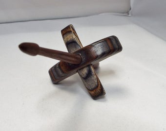 Turkish Spindle,Tiny, Barnwood, ThreadsthruTime, spinning, spindle