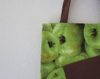 Mini Tote : Green Apple