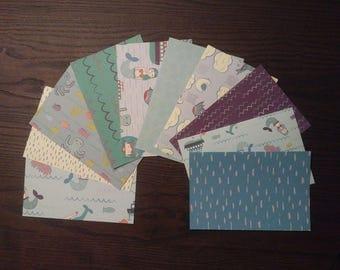 Mermaid Cardstock, 4x6 Card Fronts, 4x6 Cardstock, Mermaid Pocket Page Cards, Scrapbook Paper Pack, 4x6 Cardstock, Patterned Paper
