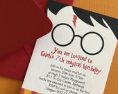 Harry Potter birthday invitation, set of 25
